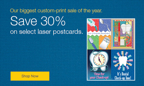 Save 20% on laser postcards!