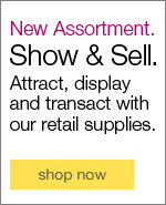 Show & Sell. Attract, display and transact with our retail supplies.