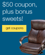 $50 off furniture, plus bonus sweets!