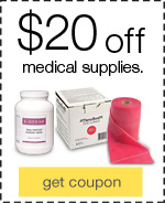 $20 off when you spend $100 on medical supplies.