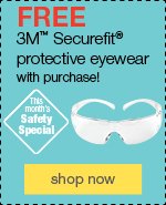 Free 3M® Securefit® protective eyewear with purchase!