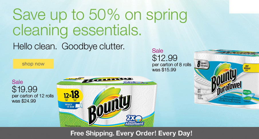 Save up to 50% on spring cleaning essentials.