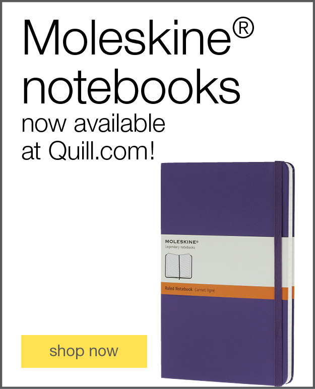 MoleSkine® notebooks now available at Quill.com!
