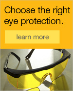 Choose the right eye protection.