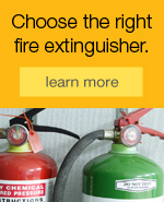 Choose the right fire extinguisher.