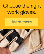Choose the right work gloves.