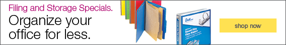 Filing & Storage Specials. Organize your office for less.