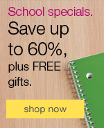 School specials. Save up to 60%.