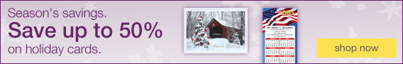 Save up to 50% on holiday cards.