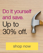 Do it yourself and save. Up to 30% off.