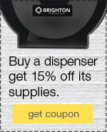 Reduce waste. Imrove appearance. Buy a dispenser, get 15% off its supplies.