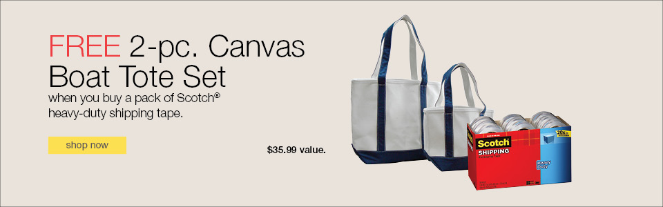 FREE 2-pc. Canvas Boat Tote Set