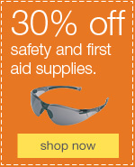 30% off safety & first aid supplies + bonus coupons.