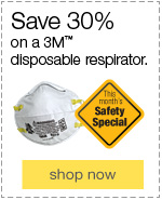 Save 30% on a 3M™ Disposable Particulate Respirator.