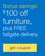 Bonus savings! $100 off furniture, plus FREE tailgate delivery.
