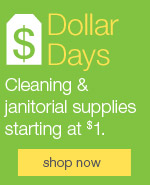 Dollar Days Cleaning & janitorial supplies starting at $1.
