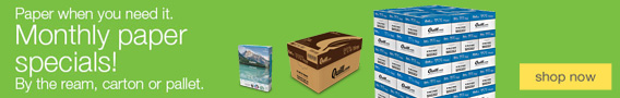 Buy paper the way you need it: by the ream, carton or pallet.