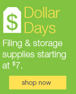 Filing & storage specials starting at $7!