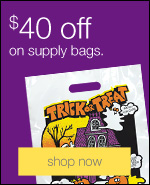 $20 off when you spend $200 or more on supply bags.