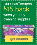 Stock up and save on cleaning and janitorial supplies. $45 back in QuillCash.
