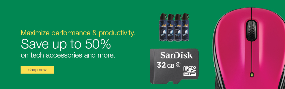 Maximize performance & productivity. Save up to 50% on tech accessories and more.