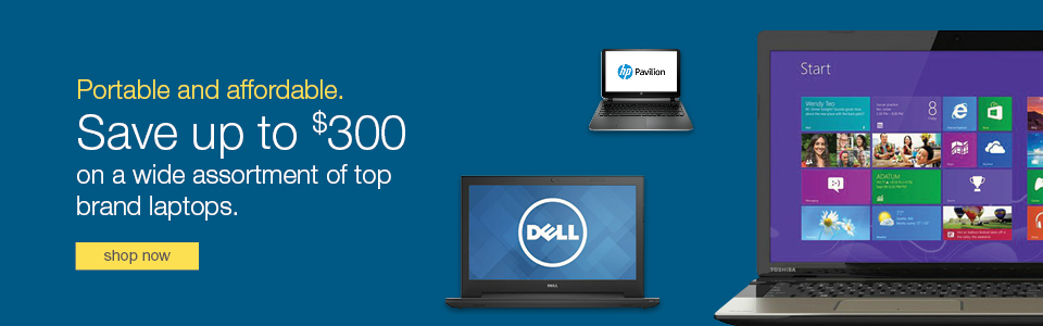 Save up to $300 on a wide assortment of top brand laptops.