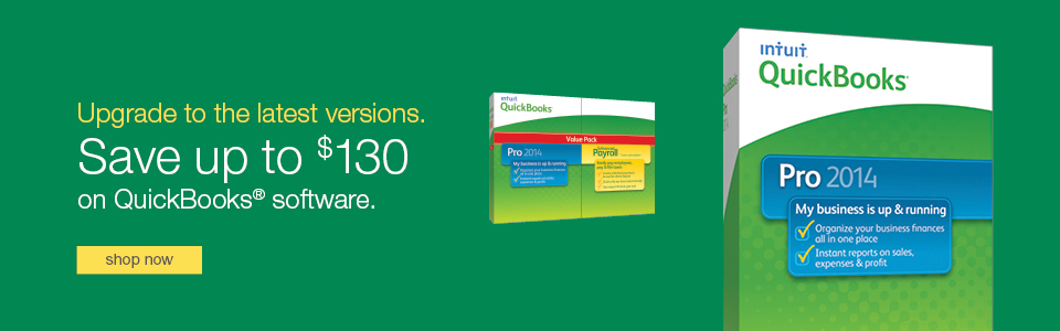 Save up to $130 on Quickbooks software.