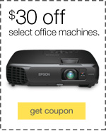 $30 off select office machines.