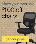 Make your own sale. $100 off chairs.