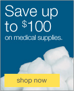 Save up to $100 on medical supplies.