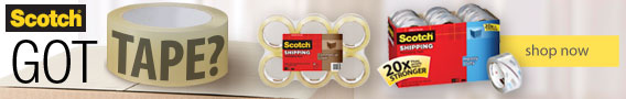 Scotch® tape.