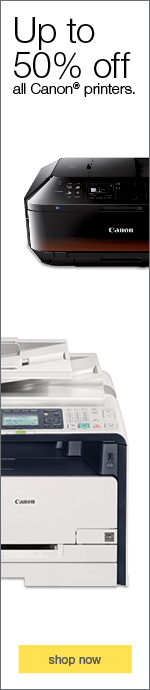 Up to 50% off all Canon® printers.