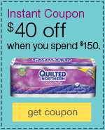 $40 off when you spend $150 on cleaning & janitorial supplies.