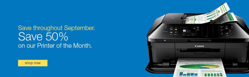 Save 50% on our Printer of the Month.