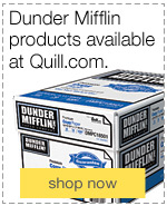 Dunder Mifflin products available at Quill.com.