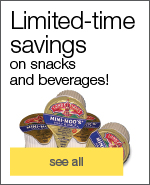 Limited-time savings on snacks and beverages!