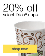 20% off select Dixie&reg cups.