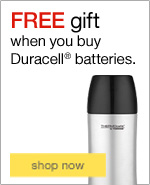 FREE insulated beverage tumbler when you buy 2 packs of Duracell® batteries.