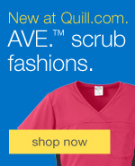 New at Quill.com. AVE.™ Scrub Fashions.