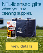 NFL-licensed gift when you spend $75 on cleaning & janitorial supplies.