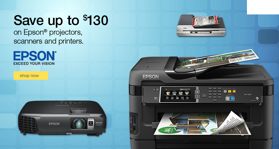 Save up to $130 on Epson® office machines.