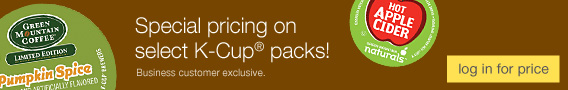 Special pricing on select K-Cup® packs!