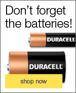Don`t forget the batteries!