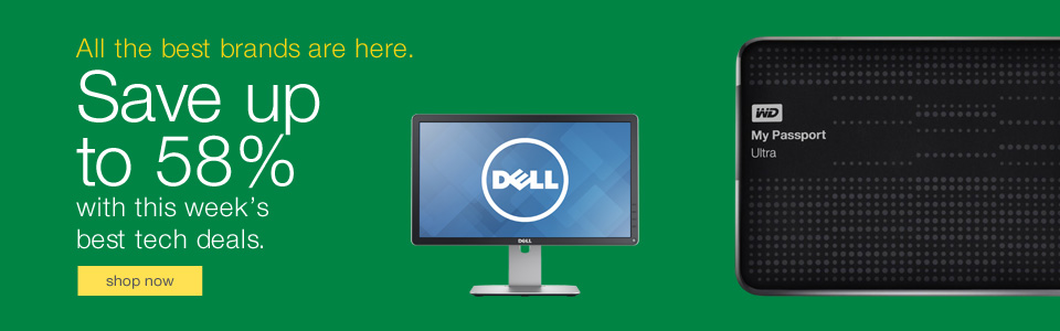 Dell monitor and WD hard drive