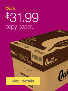 Quill Brand® copy paper.