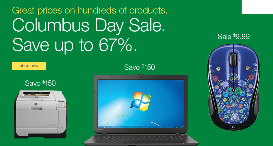 Columbus Day Sale. Save up to 67%.