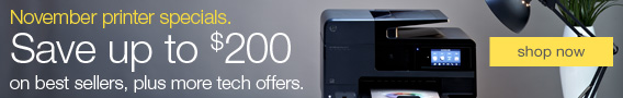 November printer specials. Save up to $200 on best sellers, plus more tech offers.