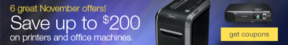 Save up to $200 on printers and office machines.