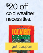 Winter is coming. Be prepared. $20 off on cold weather gear & winter clothing.