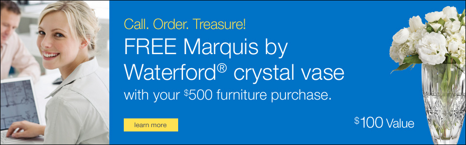 FREE Marquis by Waterford® crystal vase with your $500 furniture purchase.